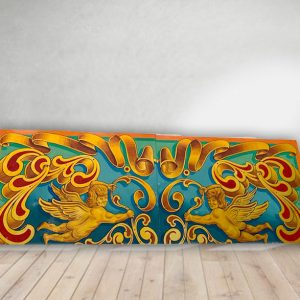 Vintage Hand Painted Rare Fairground Sign For Sale