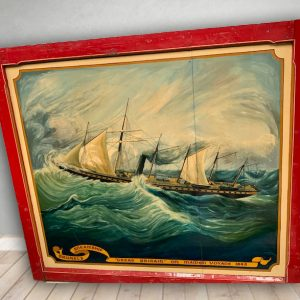 Vintage Hand Painted Rare Panel For Sale