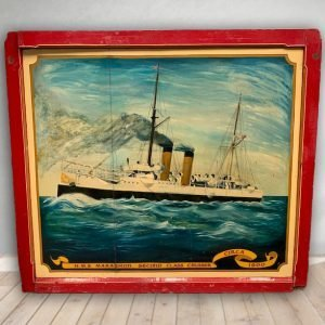 ntage Hand Painted Rare Fairground Panel For Sale