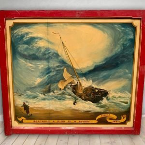 Vintage Hand Painted Rare Fairground Panel For Sale
