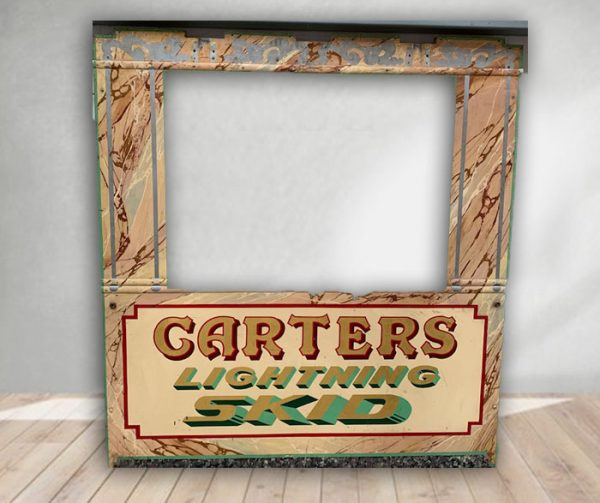 Carters Vintage Hand Painted Rare Fairground Panel For Sale