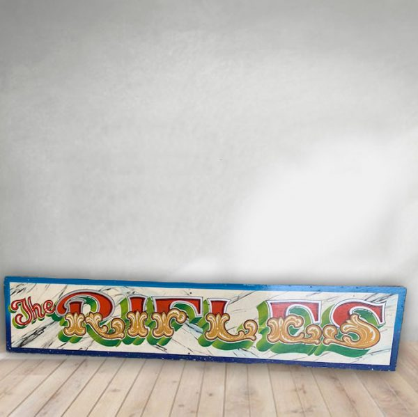 vintage hand made fairground signs
