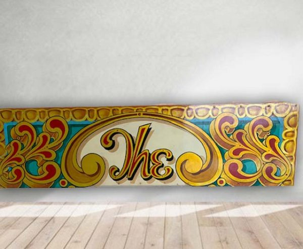The Panam - Vintage Hand Painted Rare Fairground Sign For Sale