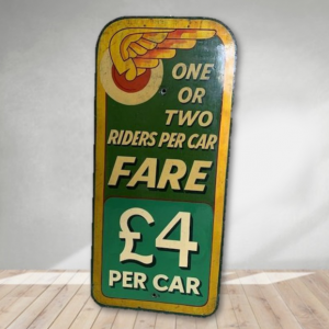 One for Two - Vintage Hand Painted Rare Fairground Sign For Sale